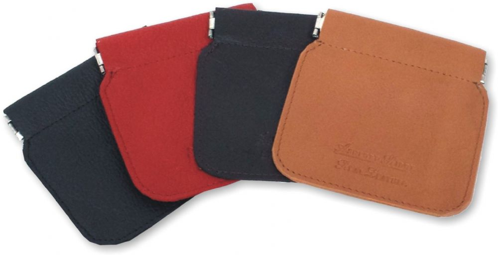 Real Leather Snap Top Coin Purse Wallet